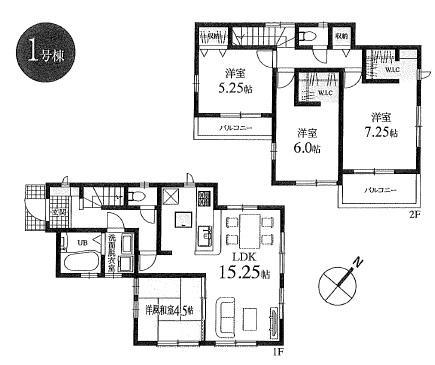 新築分譲住宅 全6棟 西東京市栄町の区画・間取り画像08