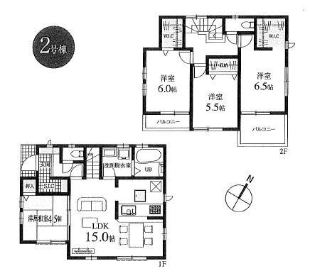 新築分譲住宅 全6棟 西東京市栄町の区画・間取り画像09