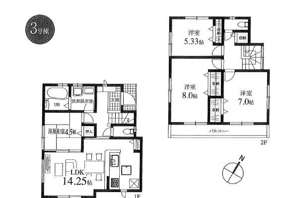 新築分譲住宅 全6棟 西東京市栄町の区画・間取り画像10