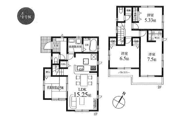新築分譲住宅 全6棟 西東京市栄町の区画・間取り画像11