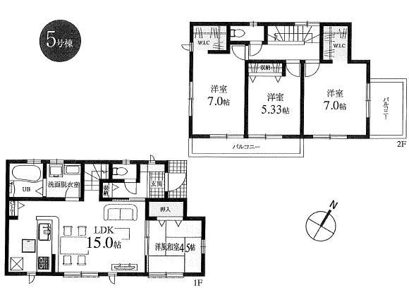 新築分譲住宅 全6棟 西東京市栄町の区画・間取り画像12