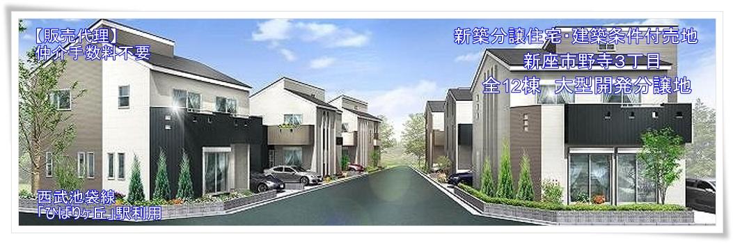 新築分譲住宅 全12棟 新座市野寺3丁目
