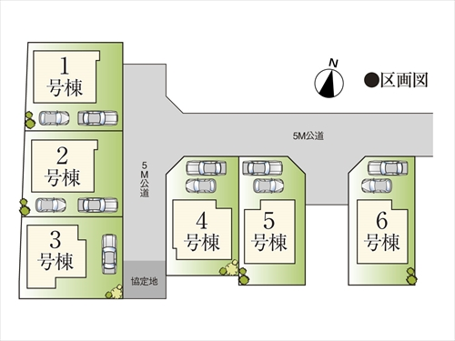 新築一戸建て住宅 全6棟 西東京市北町2丁目の区画・間取り画像08