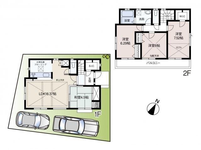 新築一戸建て住宅 全1棟 新座市石神3丁目の区画・間取り画像08