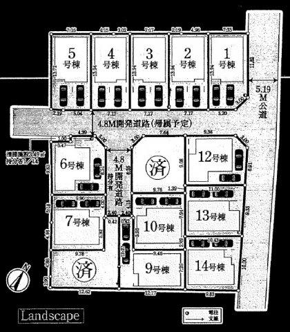 新築分譲住宅 全14棟 新座市野寺3丁目の区画・間取り画像08